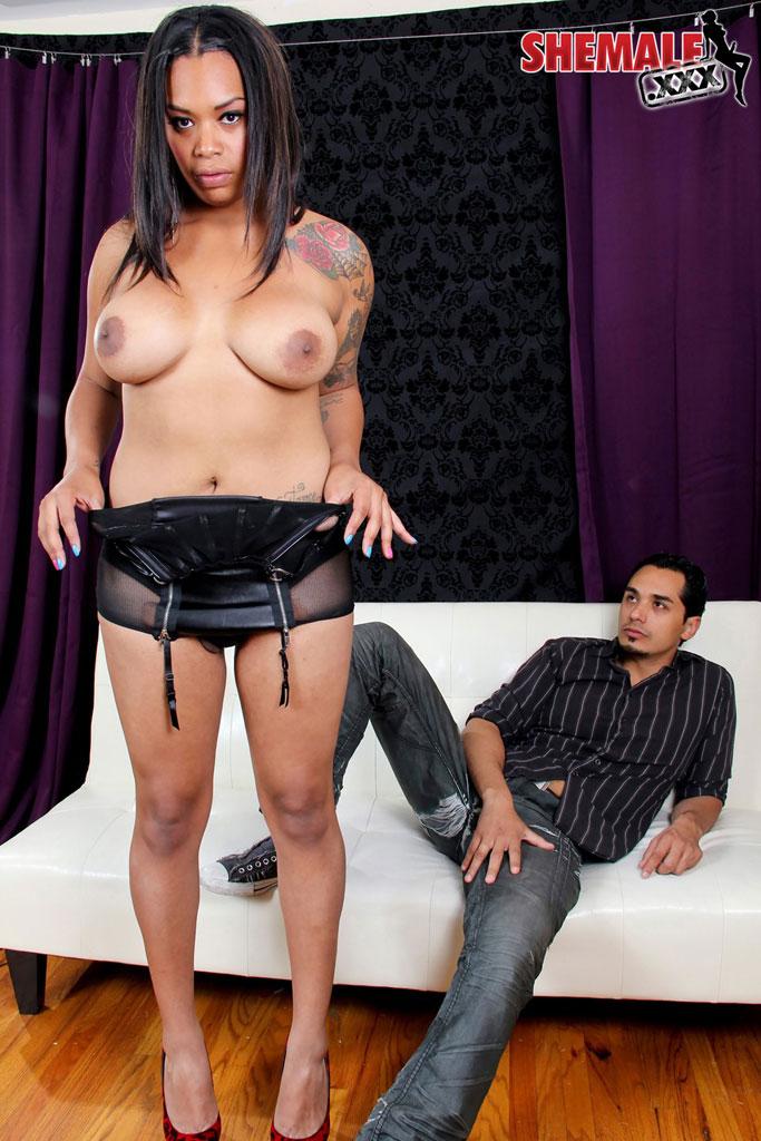 Sexy Ebony Rides White Dick